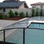 bazén a záhrada Tomášov